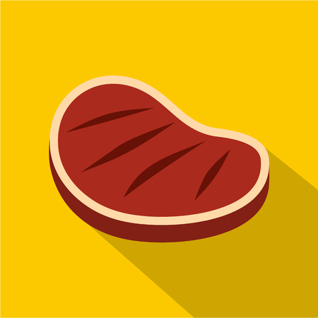 Tenderloin beef steak icon, flat style Illustration