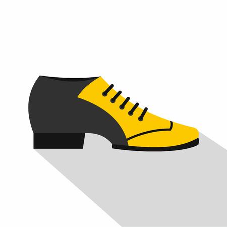 Male tango shoe icon, flat style