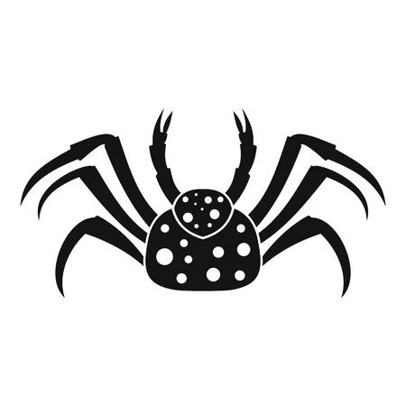 Live crab icon, simple style