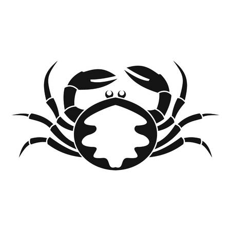 Fresh live crab icon, simple style