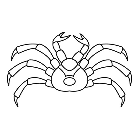 Live crab icon, outline style