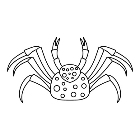 Dotted crab icon, outline style