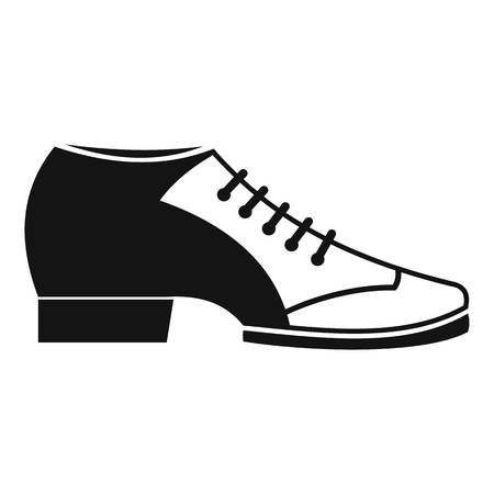 Tango shoe icon, simple style Illustration