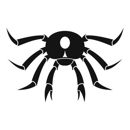 crab legs: Crab seafood icon, simple style Illustration