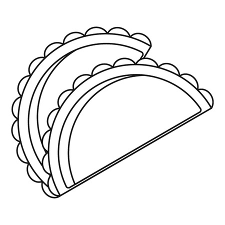patty: Savory patty icon, outline style Illustration