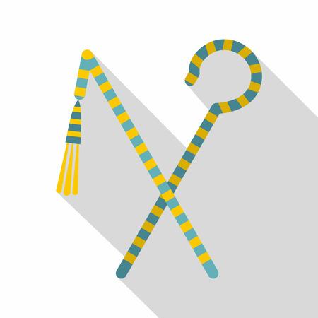 subdue: Pharaoh symbols icon, flat style