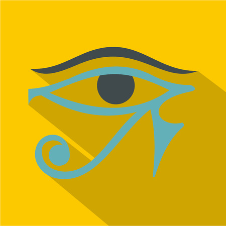 ojo de horus: Eye of Horus icon, flat style Vectores
