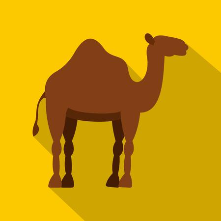 Dromedary camel icon, flat style Illustration