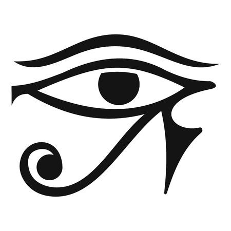 ojo de horus: Ojo de Horus Egipto icono de la Deidad, estilo sencillo