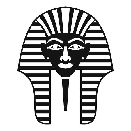 Tutankhamen mask icon, simple style Illustration