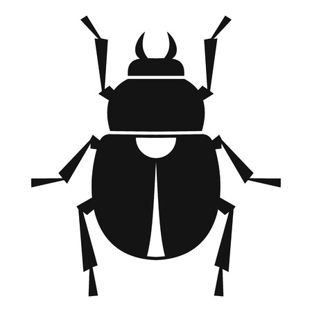 scarab: Scarab icon, simple style