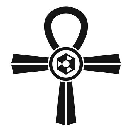 ankh cross: Egypt Ankh symbol icon, simple style Illustration