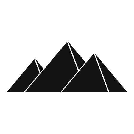 khufu: Pyramids in Giza icon. Simple illustration of pyramids in Giza vector icon for web