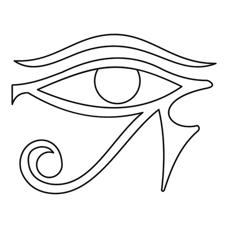 ojo de horus: Ojo de Horus icono, estilo de esquema