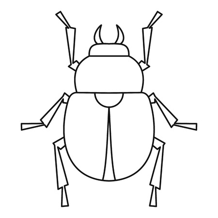 Scarab beetle icon, outline style Illustration