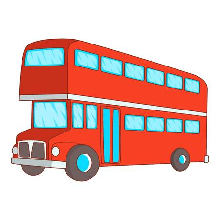 Double decker bus icon. Cartoon illustration of double decker bus vector icon for web design