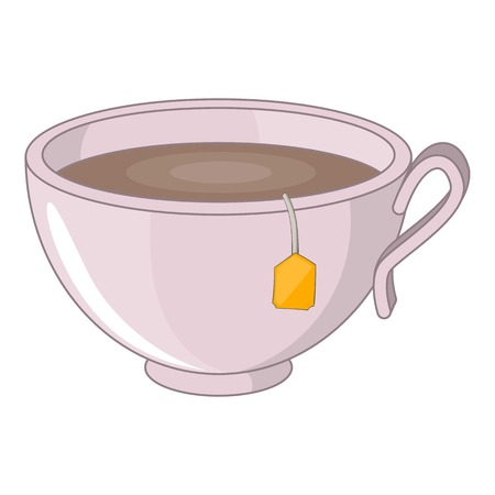 Cup of tea icon. Cartoon illustration of cup of tea vector icon for web design Illustration