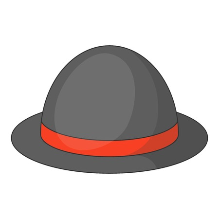 bowler hat: Bowler hat icon. Cartoon illustration of bowler hat vector icon for web design