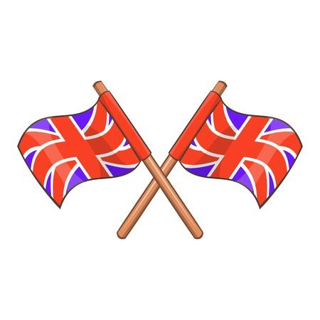 Great Britain flag icon. Cartoon illustration of Great Britain flag vector icon for web design