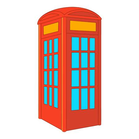 telephone box: Red telephone box icon. Cartoon illustration of red telephone box vector icon for web design Illustration