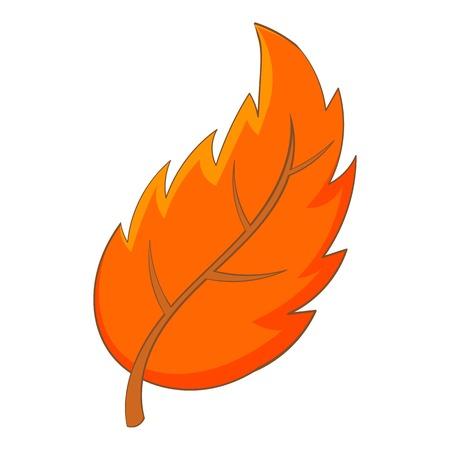 Leaf icon. Cartoon illustration of leaf vector icon for web design