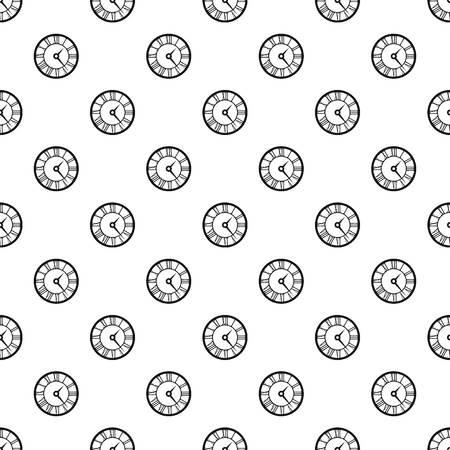 numeros romanos: Reloj redondo con el patrón de números romanos. El ejemplo simple de reloj redondo con números romanos vector patrón de la Web Vectores