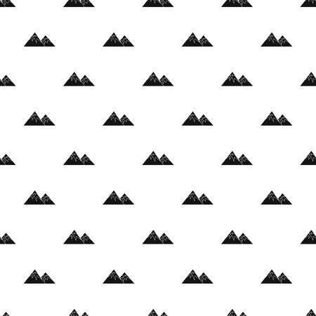winter range: Winter mountains pattern, simple style