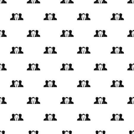 unidentified: Unidentified male avatars pattern, simple style Illustration