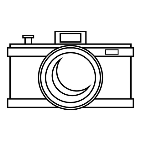 photocamera: Photocamera icon, outline style Illustration