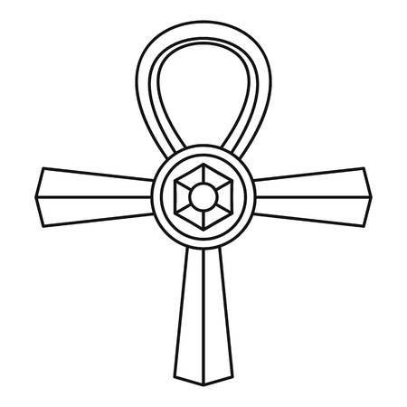 ankh cross: Ankh symbol icon, simple style Illustration