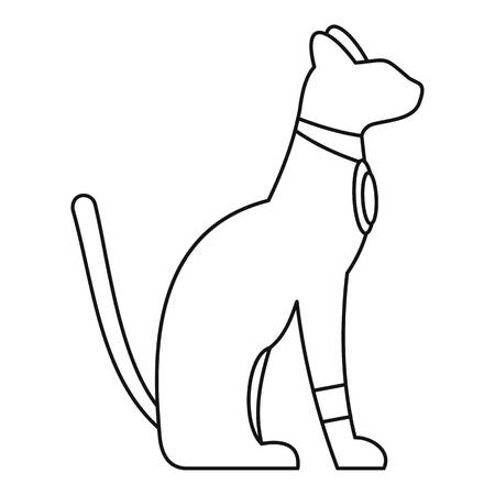 Egypt cat icon, simple style