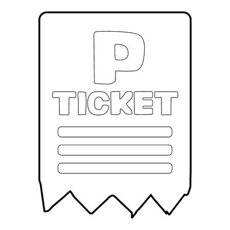 Icona del biglietto di parcheggio, stile isometrico 3d