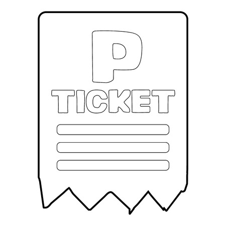 traffic warden: Parking ticket icon, isometric 3d style