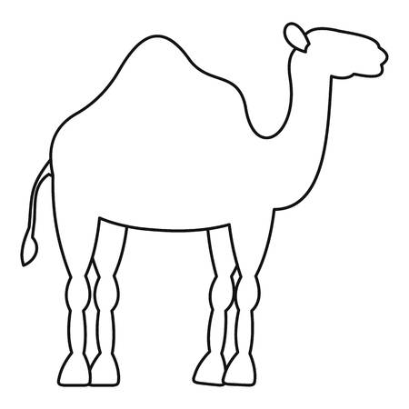 Dromedary camel icon, simple style Illustration