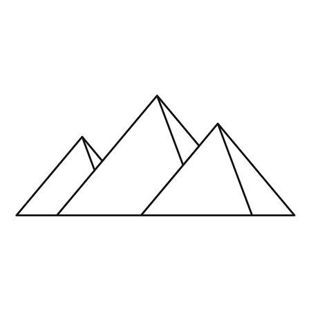 khafre: Pyramids of Egypt icon, simple style