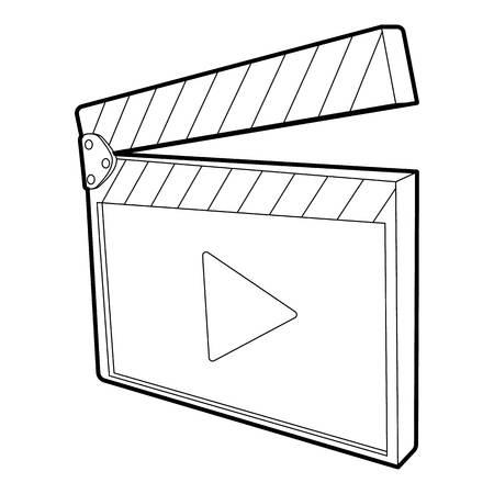 Clapboard icon, isometric 3d style Vektorové ilustrace