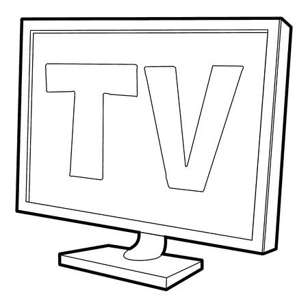 tv screen: TV screen icon, isometric 3d style