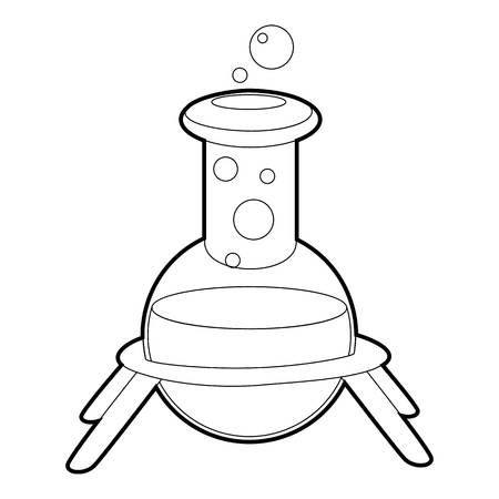 reagent: Test flask icon, isometric 3d style