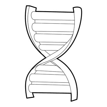 DNA strand icon, isometric 3d style