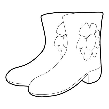 rubber boots: Rubber boots icon, isometric 3d style Illustration