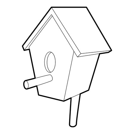 nestling birds: Nesting box icon, isometric 3d style Illustration