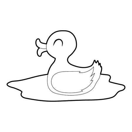 Duck icon, isometric 3d style