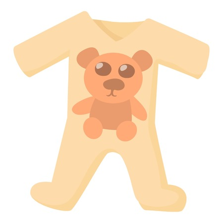 romper: Baby rompers icon. Cartoon illustration of baby rompers vector icon for web