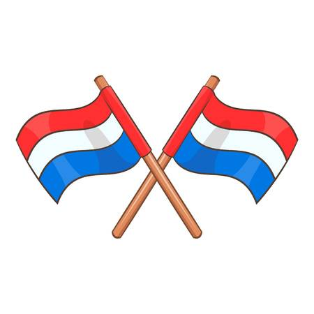 Flag of Netherlands icon, cartoon style