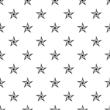 Five Pointed Star Pattern Simple Illustration Of Vector For Web Stock