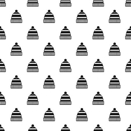 ski wear: Winter hat pattern. Simple illustration of winter hat vector pattern for web