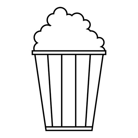 dessert buffet: Popcorn icon. Outline illustration of popcorn vector icon for web
