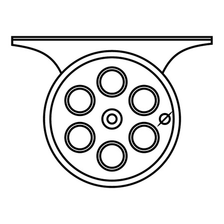 spinning reel: Spinning reel icon. Outline illustration of spinning reel vector icon for web Illustration
