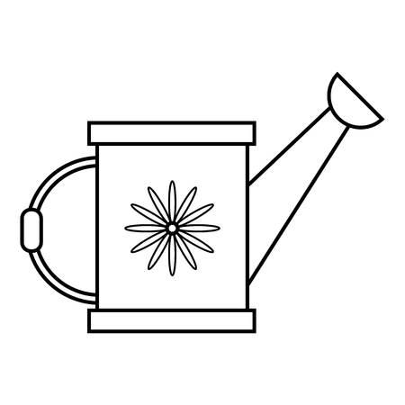 Icône de l'arrosoir. Illustration de contour de l'icône de vecteur d'arrosoir pour le web