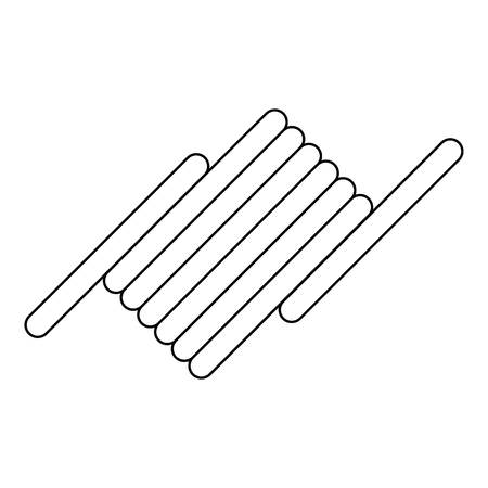 prisoner of war: Barbed wire icon. Outline illustration of barbed wire vector icon for web